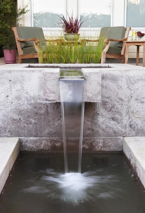 17 best ideas about modern fountain on pinterest modern for Modern pond waterfall