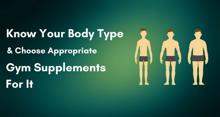 Know Your Body Type and Choose Appropriate Gym Supplements For It.