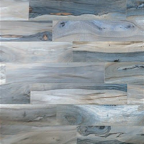 """I """"found"""" this looking for colorful painted tiles - these are beautiful, and make up a floor. little seascapes and words. Brazilian Tiger Blue Polished 8x48 Porcelain Tile"""