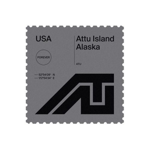 Duane Dalton / Basic Stamps / Attu Island Alaska / Stamps / 2014