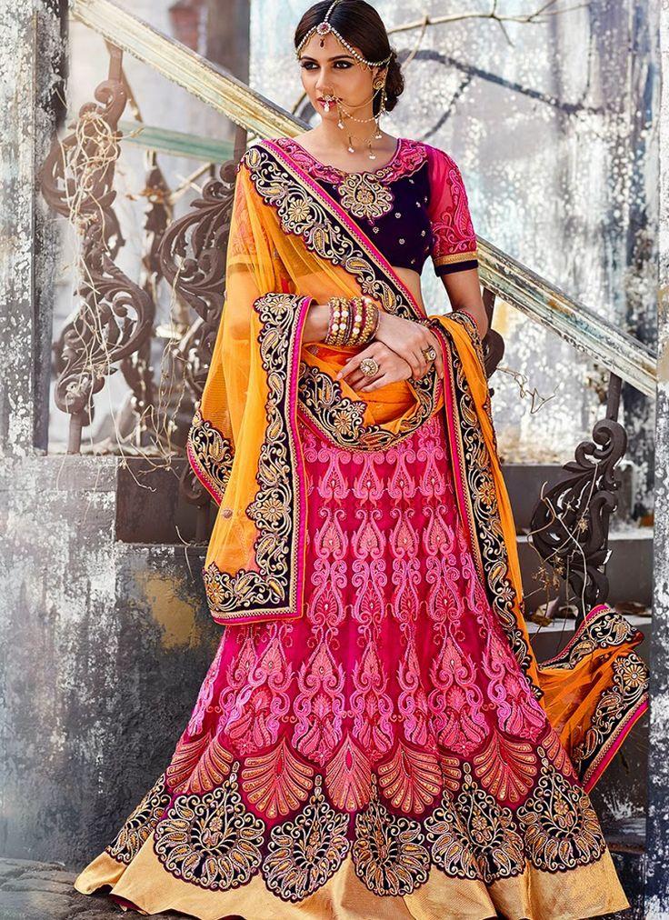 Pink Wedding Wear Wholesale Lehengas Supplier | Net Lehengas Online | Surat Lehengas  Grab Now @ http://www.suratwholesaleshop.com/3212-Elegant-Magenta-Colour-Net-Embroidered-Work-Lehenga-Choli?view=catalog  #wholesalelehengas #lehengas #onlinesupplier #bestleehngacatalog #bulklehengas #suratlehengas #lehengassupplier #lehengasexporter