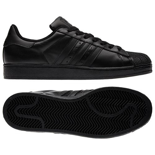 adidas Superstar 2.0 Shoes - All Black Everything