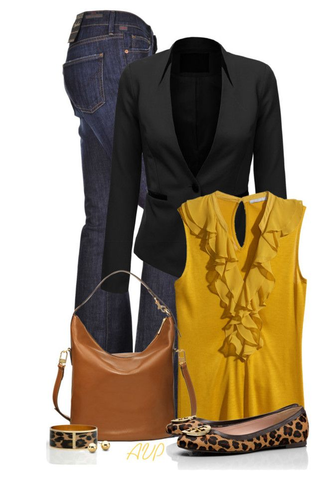 """""""Soft Leather Bucket Bag"""" by amy-phelps ❤ liked on Polyvore featuring Citizens of Humanity, J.TOMSON, H&M, Tory Burch and Talbots"""
