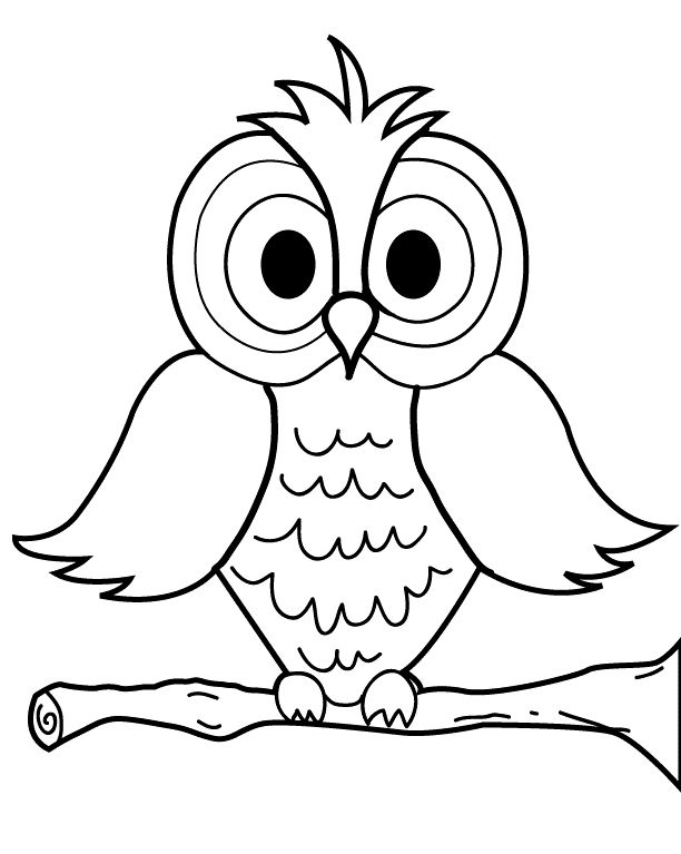 Printable cartoon owl coloring page for kids ausmalbilder eule