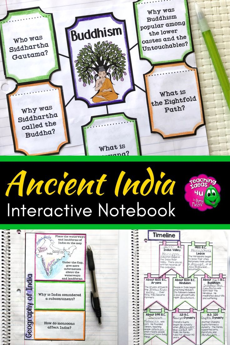 Ancient India Interactive Notebook Unit World History Your Middle School Class Will Love The Graph Interactive Notebooks World History Teaching Ancient India