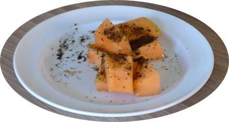 Melon med ristet vingetang