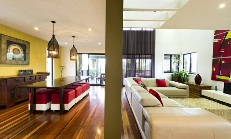 Confident, colour loving clients gave a no holds barred brief for the renovation and decoration of their family home.