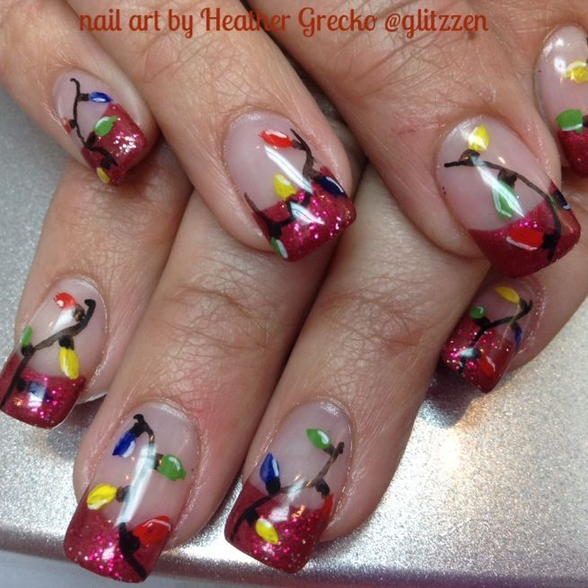 13 best lcn gel nails christmas nail art images on pinterest lcns ruby red and re glitter gel over solutions hand painted art with lcns acrylic nail art paint prinsesfo Image collections