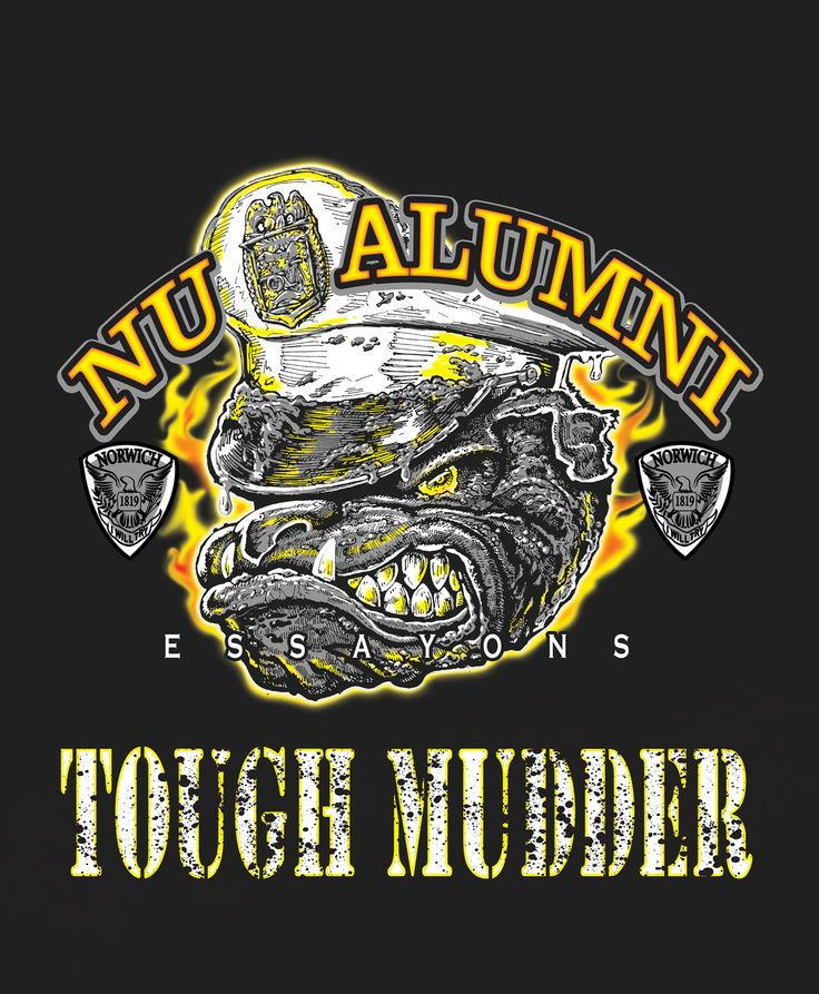 Custom color-separated Bulldog in a Cadet Cover illustration for the Norwich Alumni Tough Mudder T-Shirt design.  I create, illustrate, color-separate and print t-shirts for a living, hit me up to create something awesome for you! (510) 780-6693
