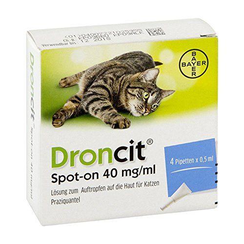 Aus der Kategorie Ungezieferschutz  gibt es, zum Preis von EUR 15,41  Zur Behandlung von Bandwurminfektionen der KatzeBandwurmmittel gegen reife und unreife Darmstadien von Dipylidium caninum und Taenia (Hydatigera) taeniaeformis