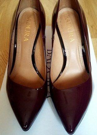 Kup mój przedmiot na #vintedpl http://www.vinted.pl/damskie-obuwie/na-wysokim-obcasie/17321600-bordowe-szpilki-lakierki-skorzane