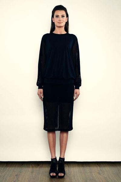 Bluza - jersey + siatka - model 21
