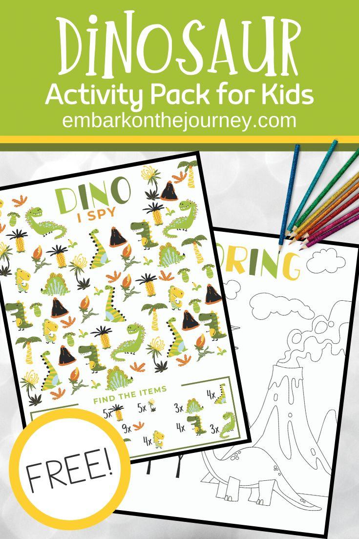 Free printable dinosaur activity pack for kids 48