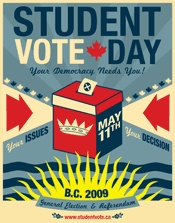 Student Vote 2009 British Columbia Provincial Election Poster