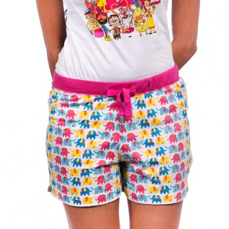 Shop this latest ELEPHANT PATTERN WHITE women's boxer short online at affordable price from Chumbak. To buy this visit http://www.chumbak.com/apparel/boxer-shorts/womens/elephant-pattern-white-boxer-short.html