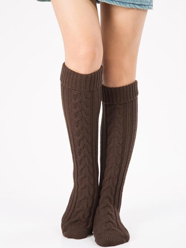 670de81df Knitting Over Knee-high Leg Warmer Thermal Stocking in 2019