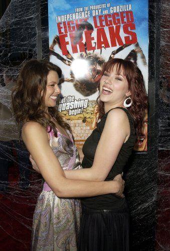 Kari Wuhrer and Scarlett Johansson at an event for Eight Legged Freaks (2002)