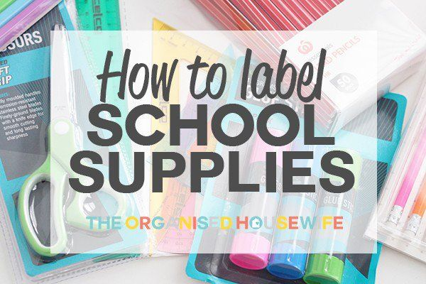 Labelling every item related to the kids and school is essential so it's easier for your child to identify their own items, will stop others from taking what isn't theirs and if it gets lost having it labelled with their name will help it get returned. There are various ways to label items ready for the first day of school, I share my tips on how I label all our back to school items.
