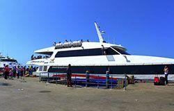 Koh Samui Ferry before departure at the Pier in Koh Phangan.