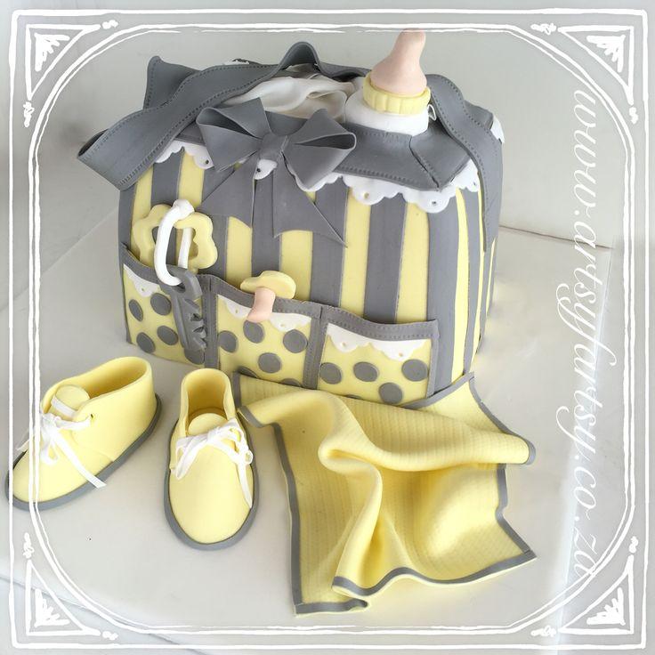 Baby Bag Cake #babybagcake
