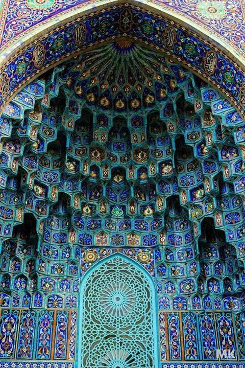 BEAT THE BLUES! Visit the Blue Mosque in Turkey and be amazed by the gorgeous interior - intricate details of the handprinted blues tiles, stained glass windows and painted calligraphy work.  Photo Credit: via Pinterest #turkey #bluemosque #architecture #gourmetrails