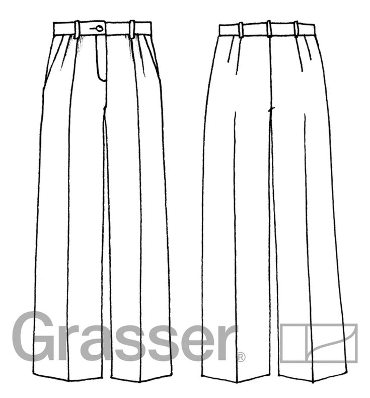 Выкройка брюк, модель № 183, магазин выкроек grasser.ru