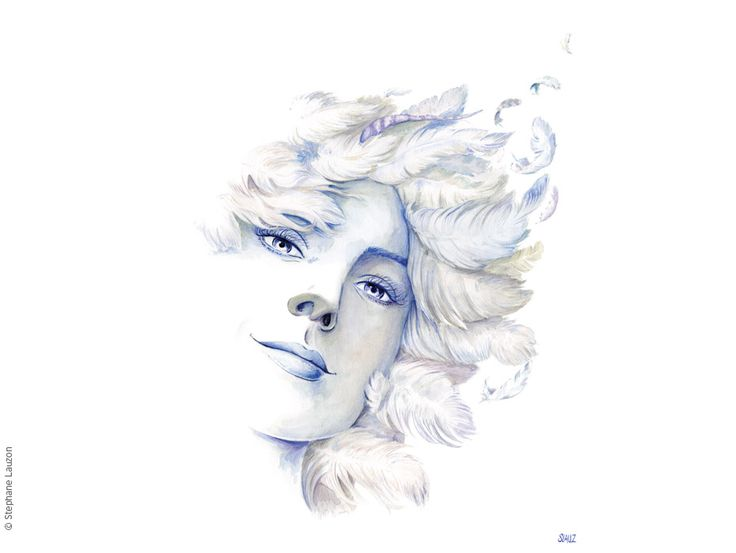 Déesse Air / Goddess Air - Stephane Lauzon Illustration