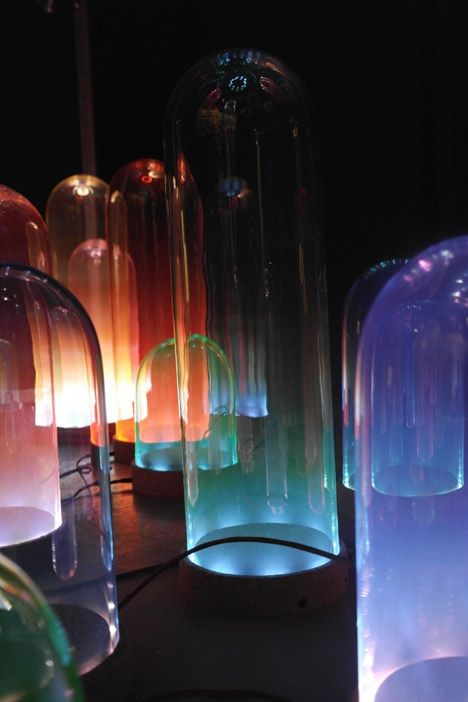 Nola colour mixing lamps by studio drift at eat drink design
