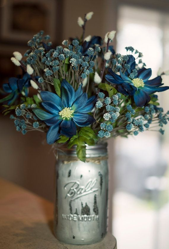 Here Are The Best Silk Flower Ideas To Make Your Event Special Source Silk Flower Centerpieces Blue Flower Arrangements Mason Jar Flower Arrangements