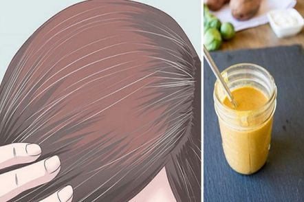 formula natural para retardar os cabelos brancos