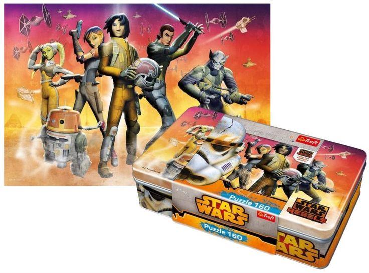 TREFL puzzle Star Wars Povstalci v plechové krabičce 160 dílků
