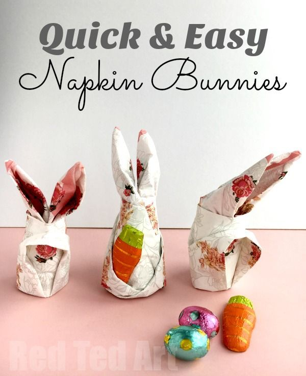 How to fold a Bunny Napkin for Easter - These work great with paper napkins as well as cloth napkins. So cute!! Love these Easter Bunny Napkins for the Easter Breakfast table.