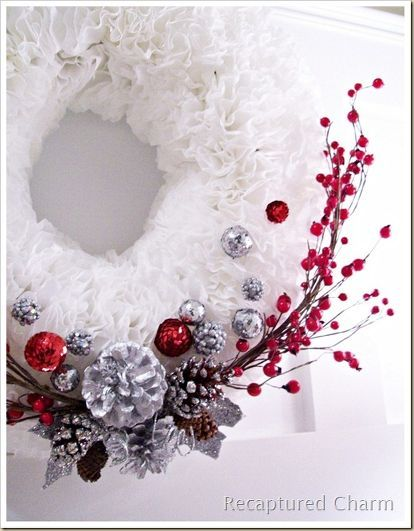 coffee filter christmas wreath, crafts, seasonal holiday decor, wreaths, Takes a couple of hours
