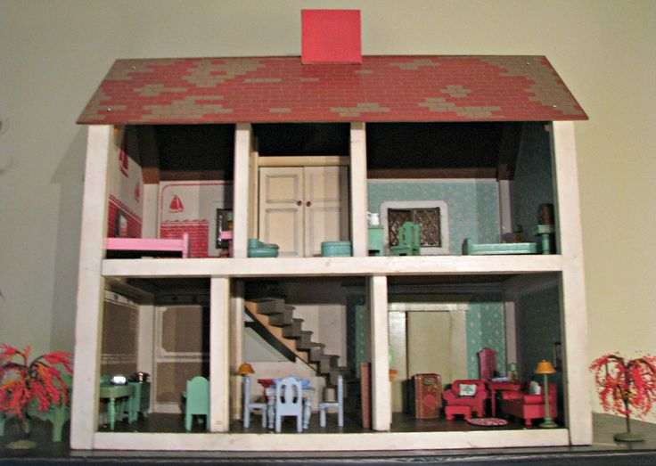 Vintage Dollhouse Furniture For Sale Part - 40: A Few Weeks Ago, I Came Home With Another Vintage Keystone Dollhouse. Itu0027s  Been Sitting On Top Of My China Hutch Waiting For Some Furnishi.