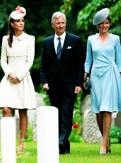King Philippe and Queen Mathilde with Catherine, Duchess of Cambridge