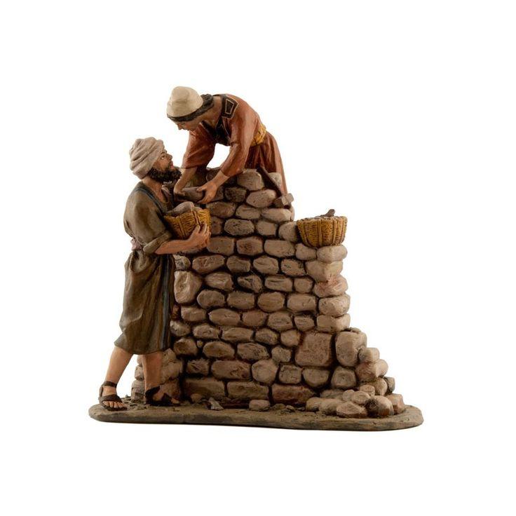 Grupo albañiles - Tienda de Belenes, Nacimientos, Pesebres - Galeria Chabix