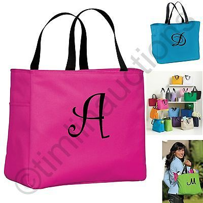 Personalized Monogram Tote Bag Bridesmaid Gift Bridal Shower Wedding Embroidered