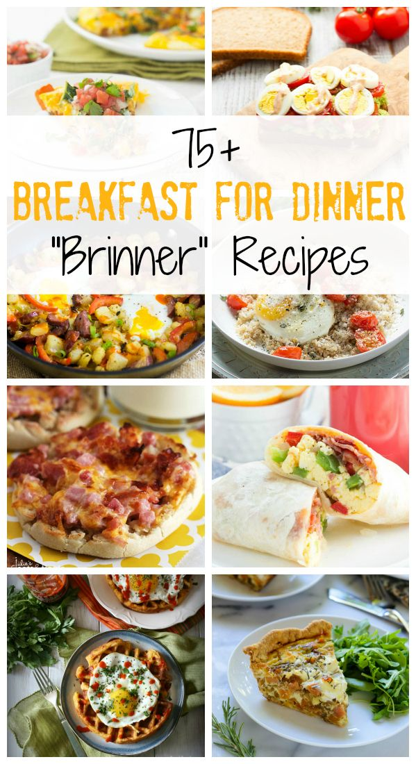 Who doesn't love breakfast for dinner? Here you will find over 75 recipes that are perfect for brinner! Everything from frittatas and quiches to sandwiches and waffles!