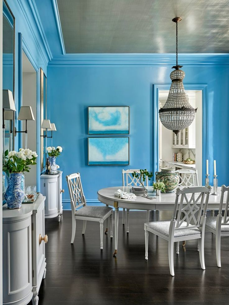 Wicker Park Transitional by Summer Thornton Design blue