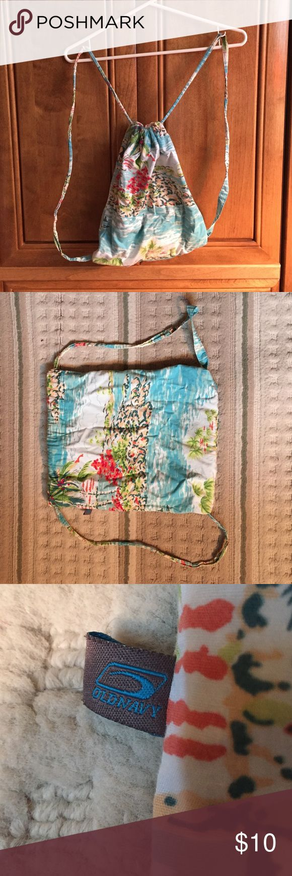 Beach cinch sack Beach print cinch sack from old navy Old Navy Bags Backpacks