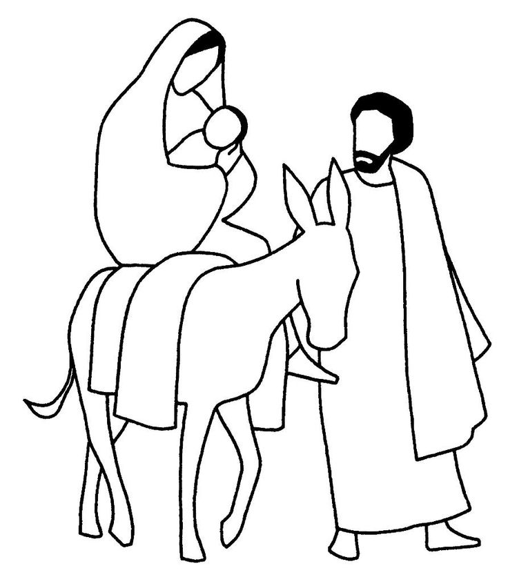 flight into egypt coloring pages - photo#14