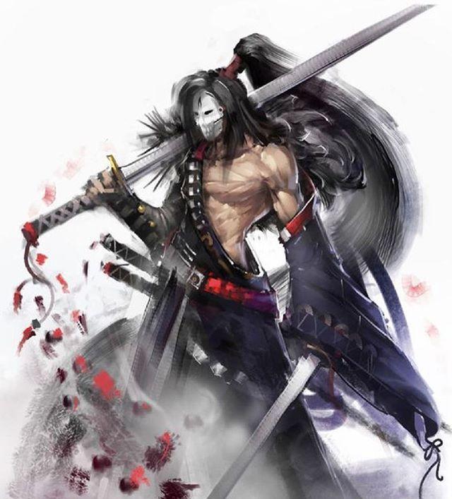 The masked samurai reaper • • • • • • • • •  #shinobi #assasin #warrior #samurai #manga #ниндзя #katana #art #digitalart #бусидо #japan #bushido #катана #воин #fantasy #blade #Ninja #самурай #Япония #samurai #japan #japanese #japan🇯🇵 #japanesestyle #anime  #animeart #fantasyart#drawings#asian #ronin #ронин