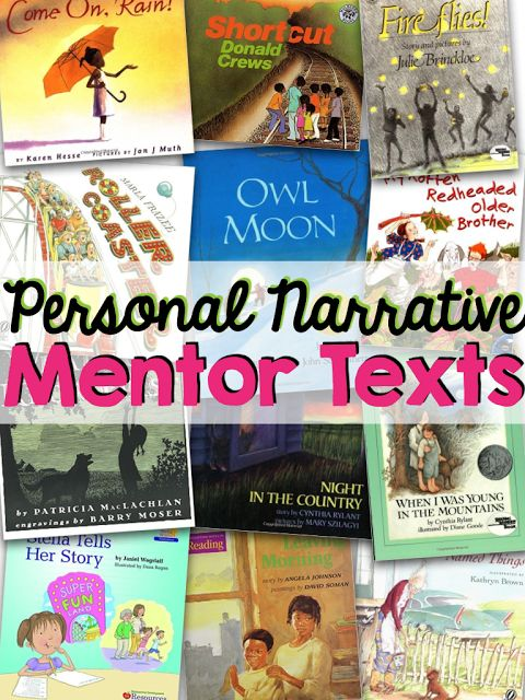 List of books to use with introducing and teaching personal narrative writing.