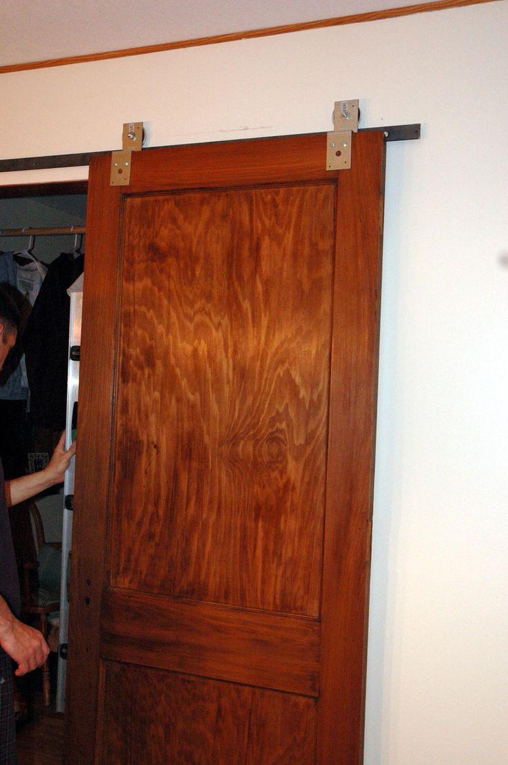 Diy sliding bathroom door - Diy Barn Door Hardware