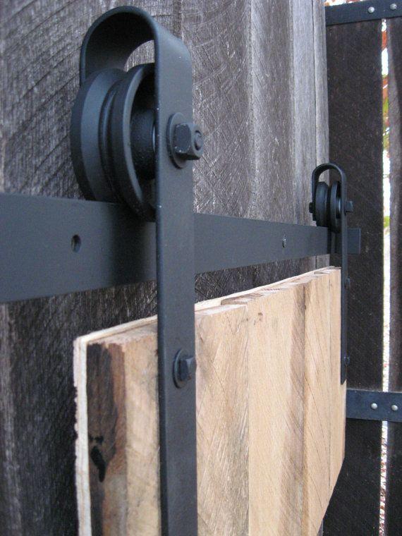 Mid-Century Sliding Door Hardware Kit by HURTSMETALWORKS on Etsy