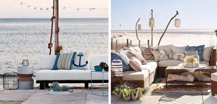 Terrazas en estilo costero para el verano - http://www.decoora.com/terrazas-estilo-costero-verano/