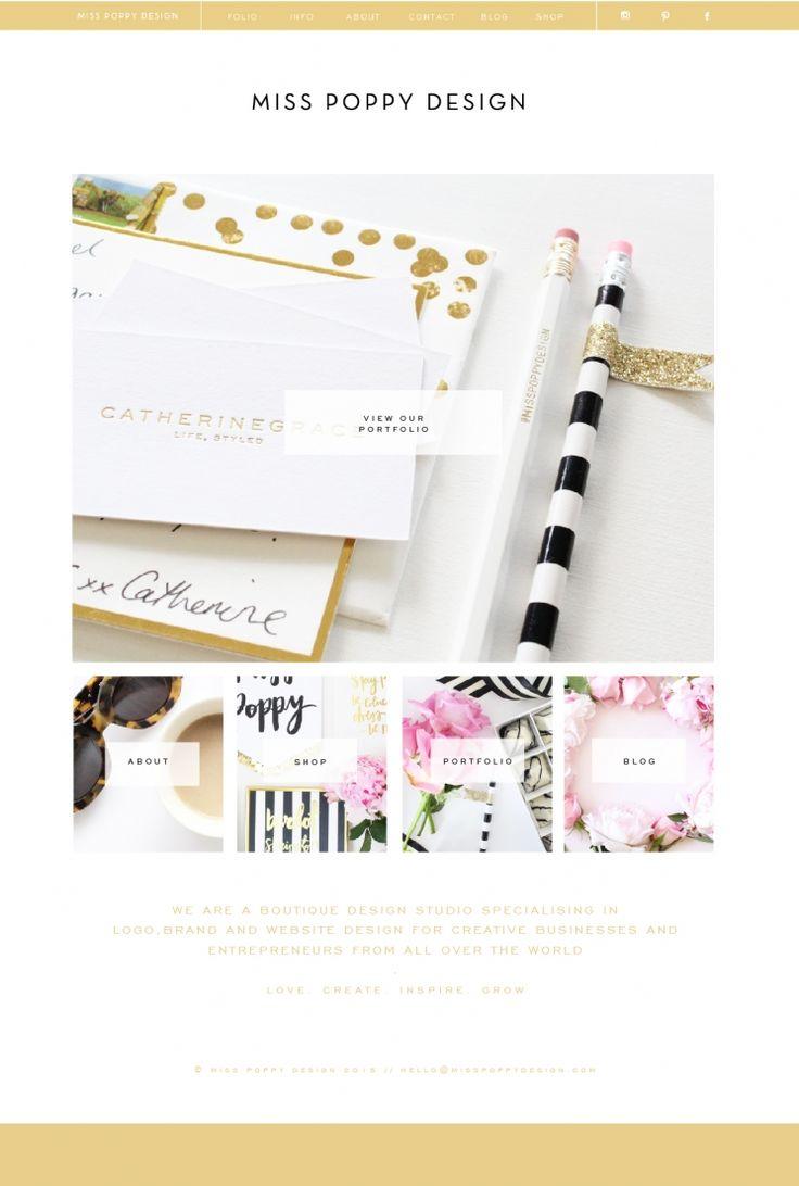 Miss Poppy Design : New Look Website : Branding / Logo Design / Design Blog…