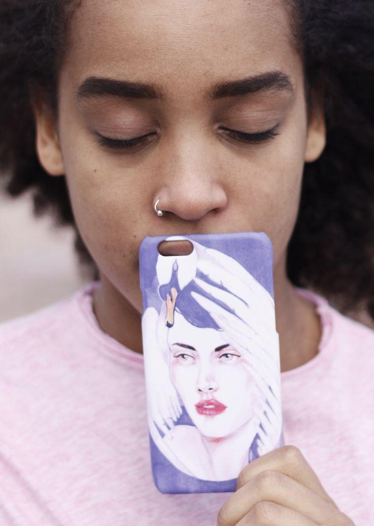 """Ballet and Breadcrumbles"" Shell'Oh! iPhonecase designed by Anna Salmi. //Model Rebekka Yeboah, photos by Alexandra Lehi"