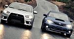 2010 #Mitsubishi #Lancer #Evo vs 2011 #Subaru #WRX #STI (with video)