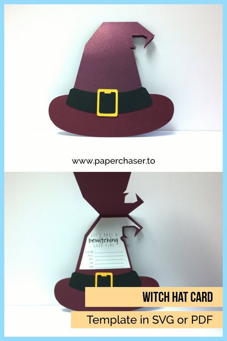 Witch S Hat Card Template Halloween Cards Handmade Witch Hat Diy Witch Hat